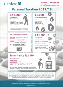 infographic: tax rates 2017/18